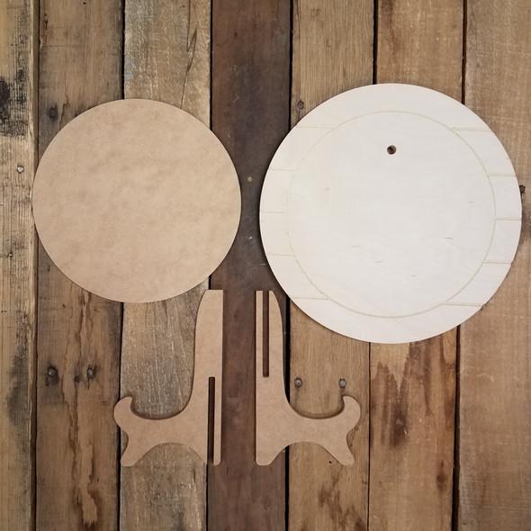 Bring Your Own Topper Stackable Easel Kit, Basic Engraved DIY Craft Decor Set