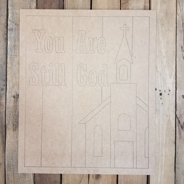 You Are Still God Beaded Board Church Plaque, Unfinished Paint by Line
