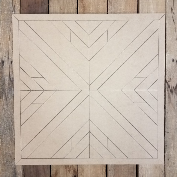 Wooden Geometric Art Square, Bohemian Style