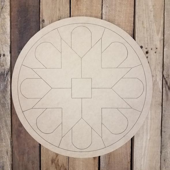 Decorative Wall Geometric Art Circle , Boho Style Unfinished Wood Shape