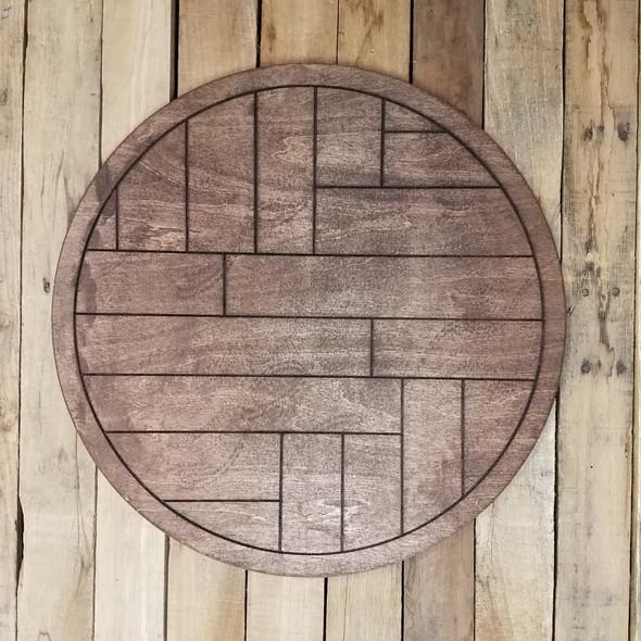 Boho Geometric Wall Art Circle Stained
