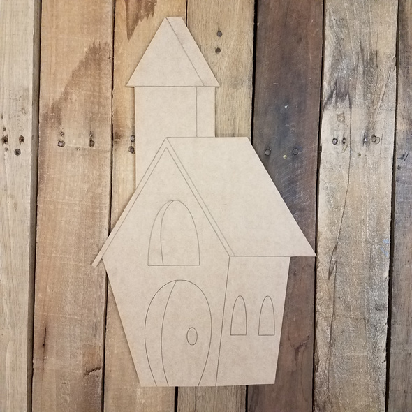 Church Building Craft Shape
