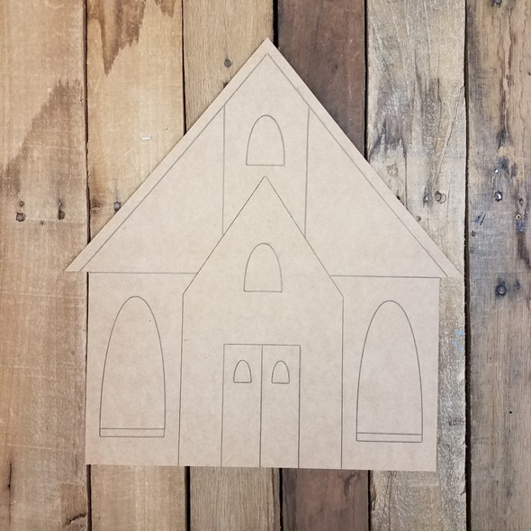 Country Church Craft Shape
