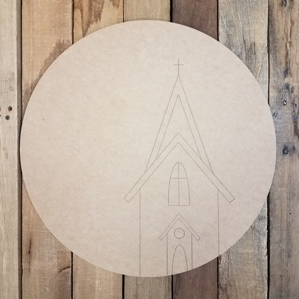 Rustic Church Circle Craft