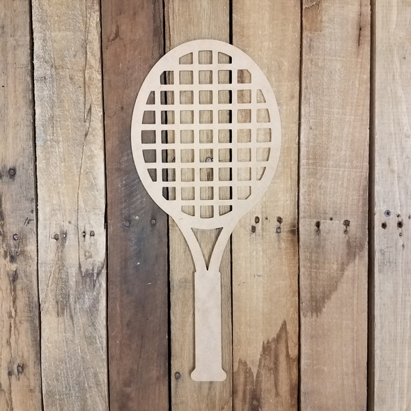 Tennis Racquet Unfinished Wooden Sport Shape Wood Craft