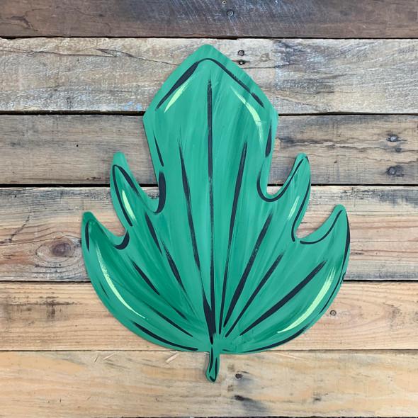 Large Palm Leaf, Unfinished Botanical Shape, Paint by Line