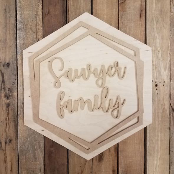 Boho Name Kit Family Name Sign Unfinished