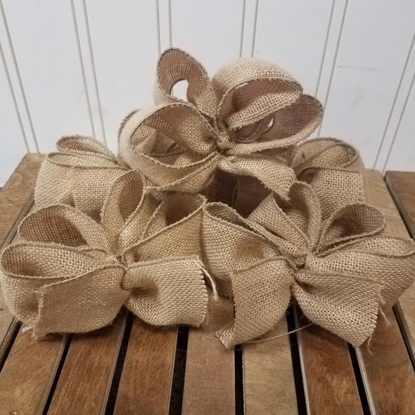 5 Handmade Burlap Bows