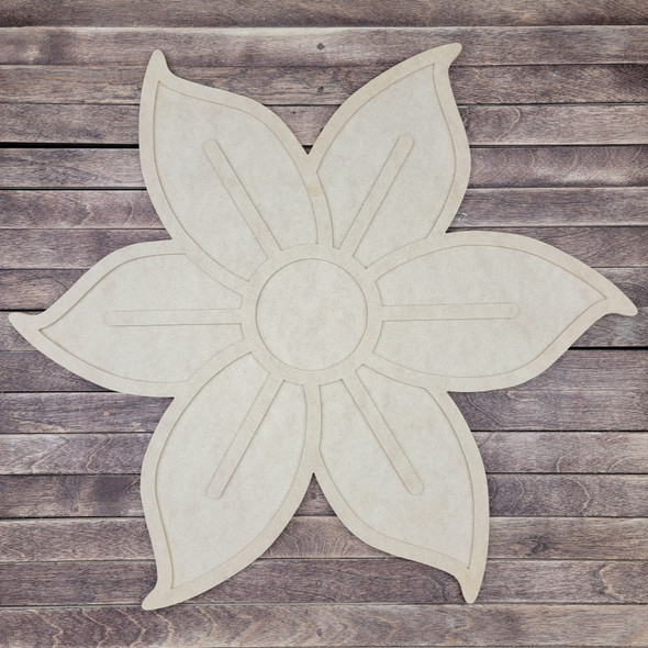 18'' Layered Poinsettia Flower 2 Piece Set, Unfinished Wall Art