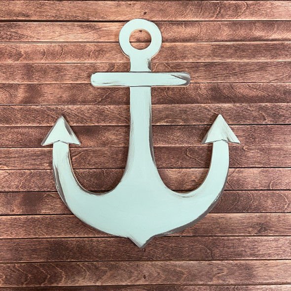Decorative Nautical Anchor, Unfinished Wood Cutout, Paint by Line