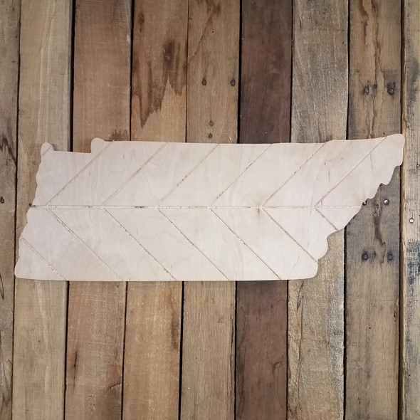 Tennessee Bohemian Pattern Pine State, Unfinished Paint by Line WS