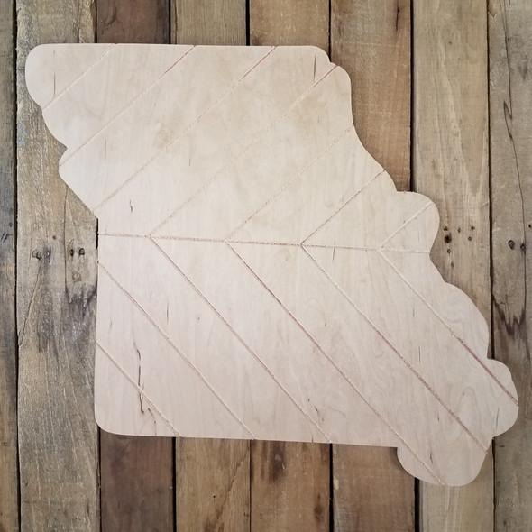 Missouri Bohemian Pattern Pine State, Unfinished Paint by Line