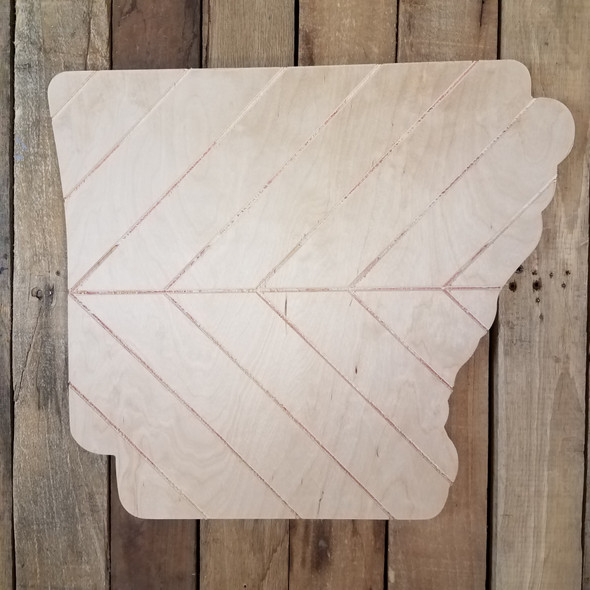 Arkansas Bohemian Pattern Pine State, Unfinished Paint by Line