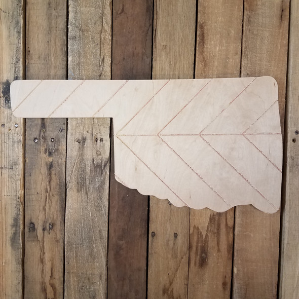 Oklahoma Bohemian Pattern Pine State, Unfinished Paint by Line WS