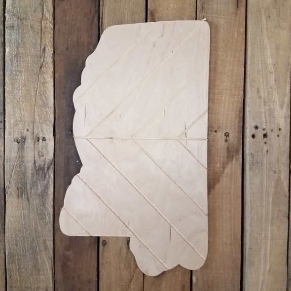 Mississippi Bohemian Pattern Pine State, Unfinished Paint by Line