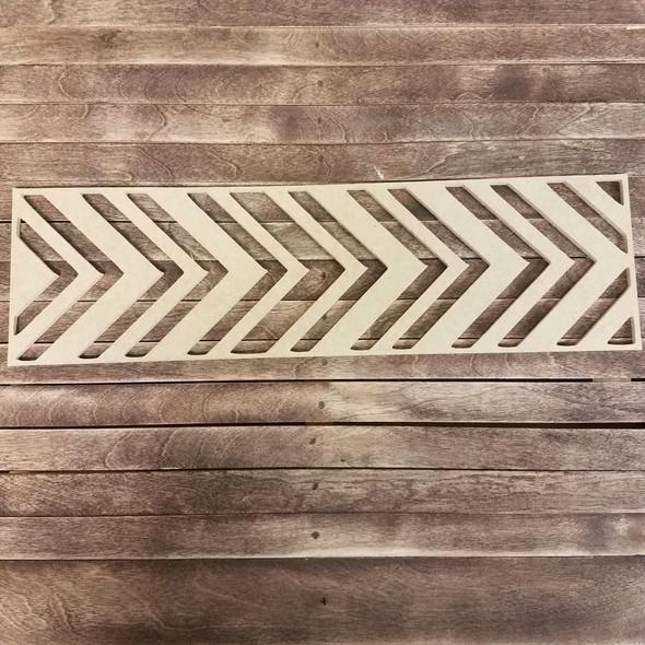 Chevron Stencil Wall art, Wooden Craft Shape