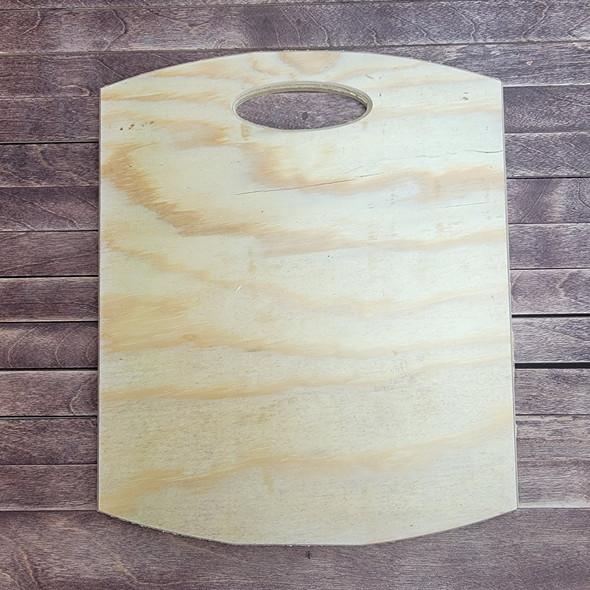 Plain Faux Cutting Board Pine, Unfinished Wood Craft Shape