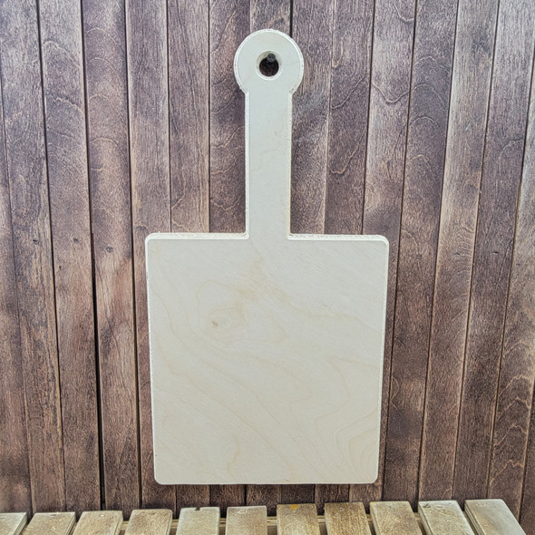 Long Handled Square Shape Bread Board , Unfinished Wood Cutout