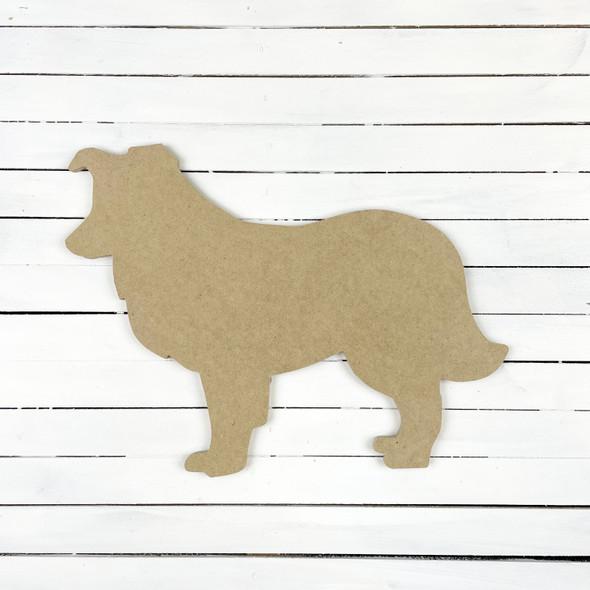 Dog Silhouette 5 Unfinished Wood Craft Shape