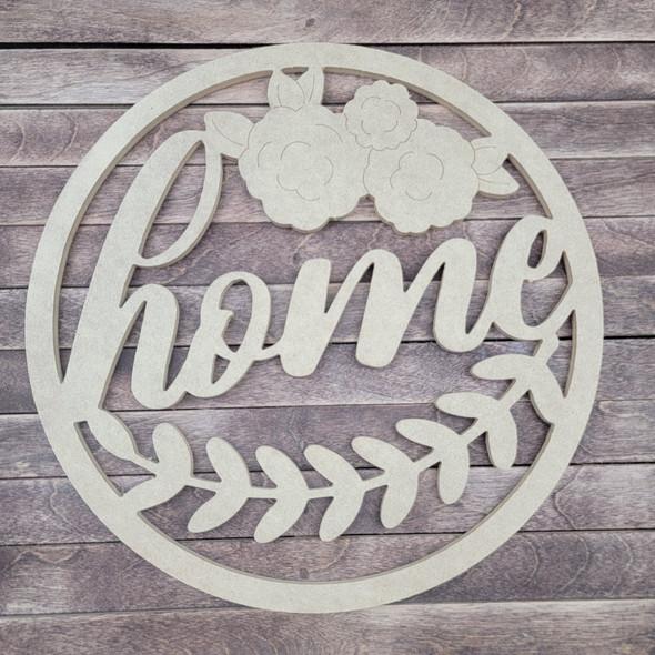 Home Laurel Circle, Engraved DIY Craft Shape