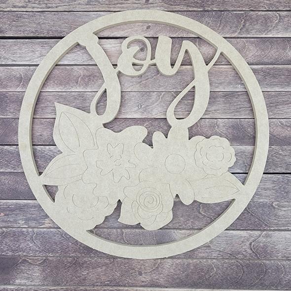 Joy Circle, Engraved DIY Craft Shape