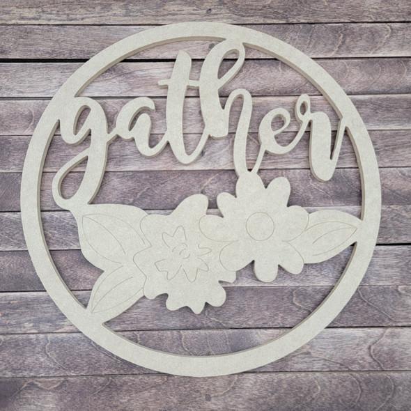 Gather Circle, Engraved DIY Craft Shape