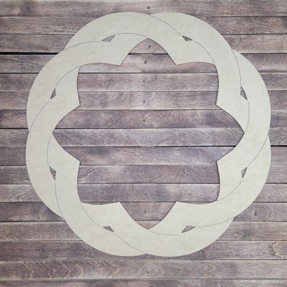 Boho Weave Décor Wall Art, Unfinished Wood Cutout