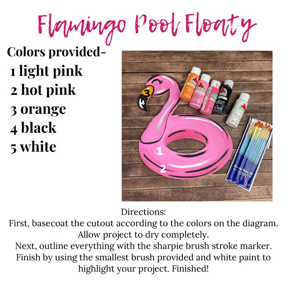 Flamingo Pool Floaty Paint Kit, Video Tutorial and Instructions