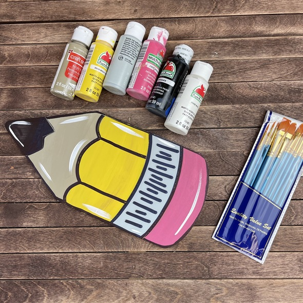 Pencil Paint Kit, Video Tutorial and Instructions