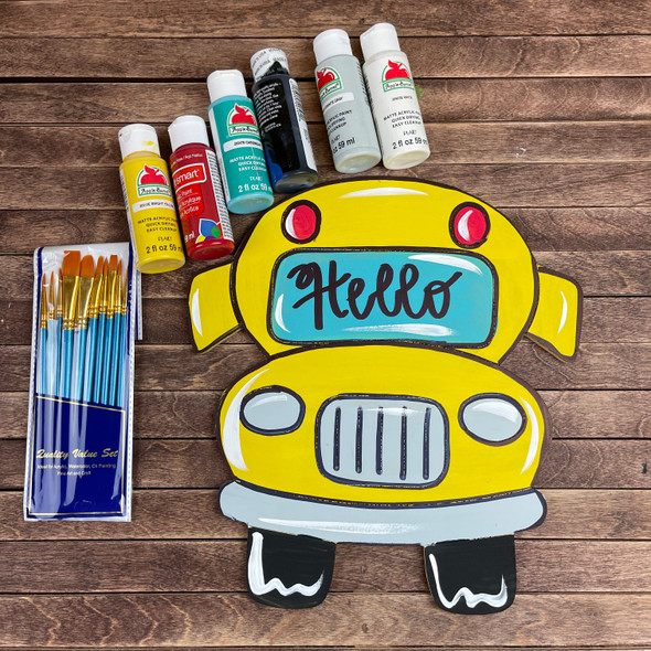 School Bus Paint Kit, Video Tutorial and Instructions