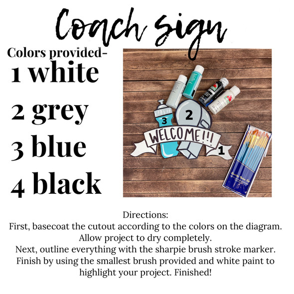 Coach Banner Paint Kit, Video Tutorial and Instructions
