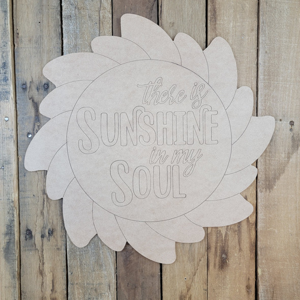 Sunshine In My Soul, Unfinished Craft, Paint by Line, wood cutout