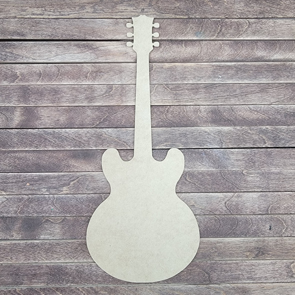 Guitar, Wooden Shape Unfinished Cutout, Paintable MDF Craft