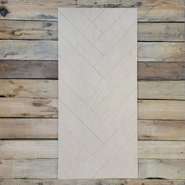 Rectangle Design Geometric Pattern, Paint by Line, Boho Style Wood Cutout
