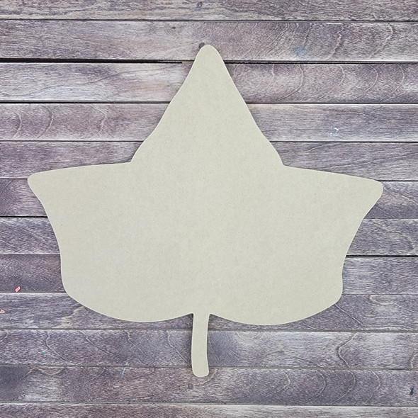 Ivy Leaf, Wooden Shape Unfinished Cutout, Paintable MDF Craft
