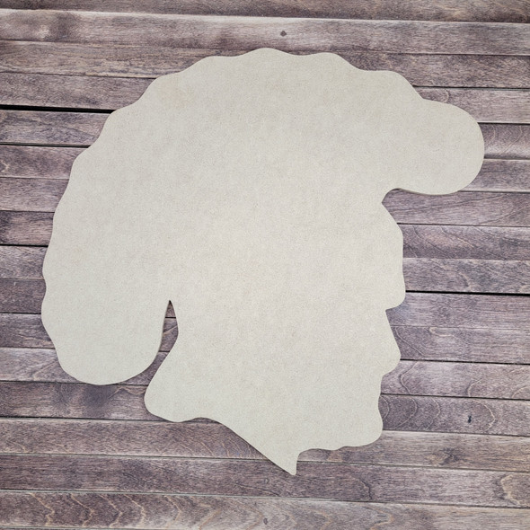 Trojan Warrior, Wooden Shape Unfinished Cutout, Paintable MDF Craft