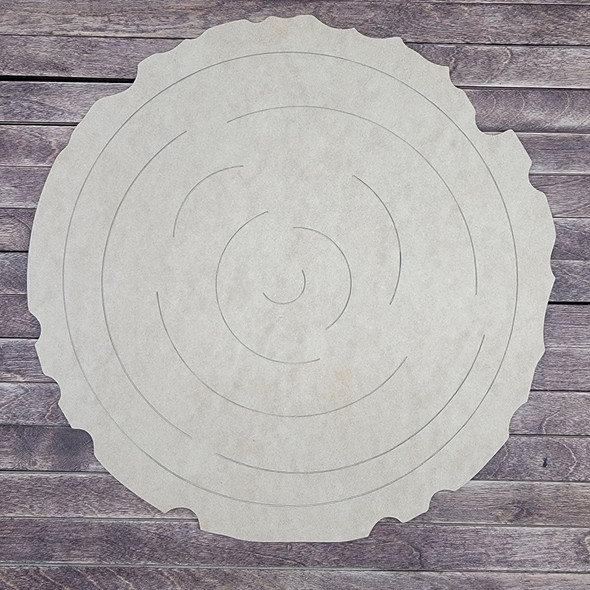 Tree Ring Section, Paint by Line, Unfinished Wood Craft Design