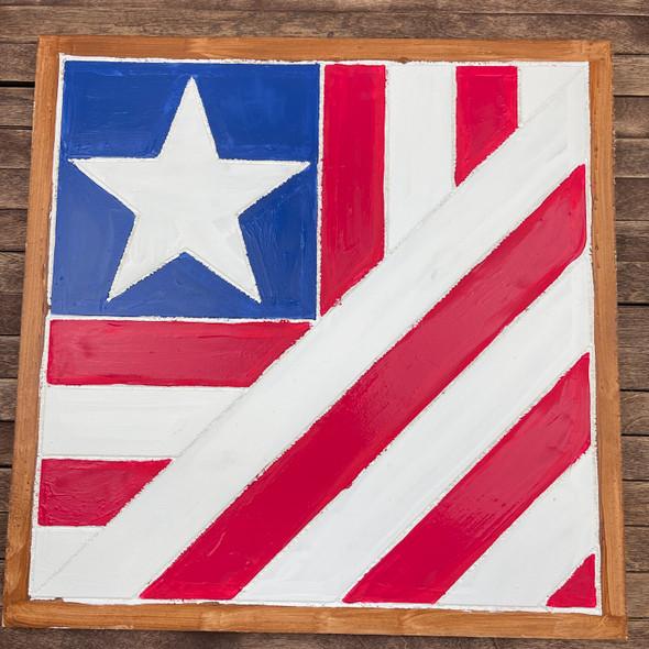 Boho Flag Geometric Wall Art Circle Paint Kit