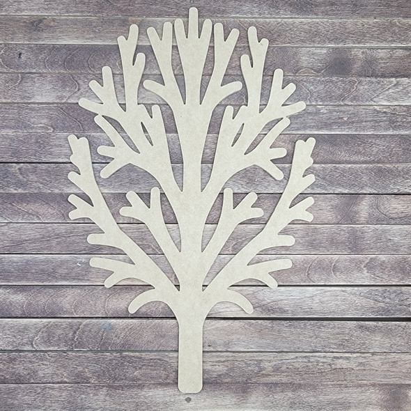 Tree Without Leaves, Wooden Shape Unfinished Cutout, Paintable MDF Craft