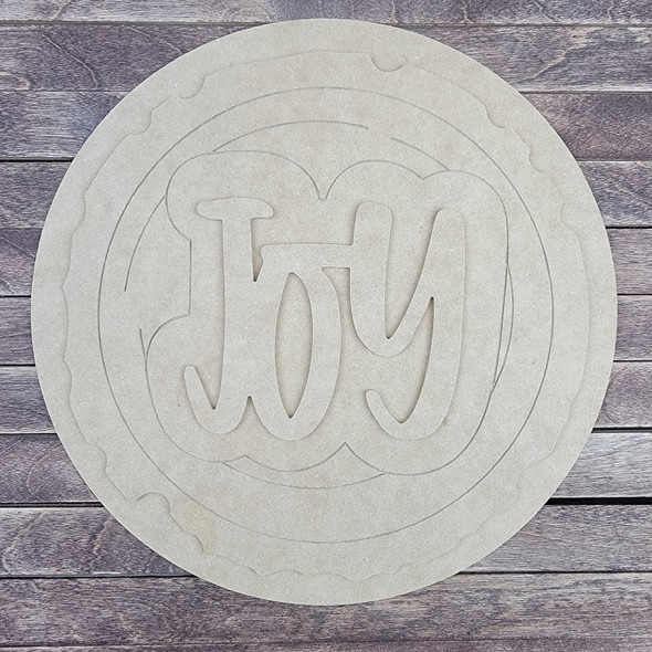 "18"" Joy Wood Slice Stacked Décor Kit, Unfinished 3 Piece Set"