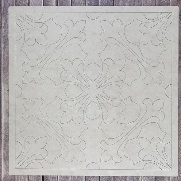 Saltillo Spanish Tile Boho Art, Paint by Line, Wood Craft Cutout