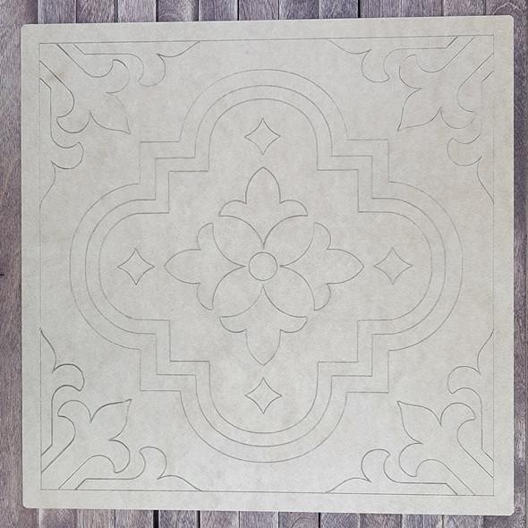 Mexican Talavera Tile Boho Art, Paint by Line, Wood Craft Cutout