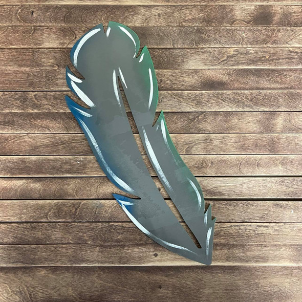 Decorative Feather Cutout, Wooden Shape Unfinished Cutout, Paintable MDF Craft