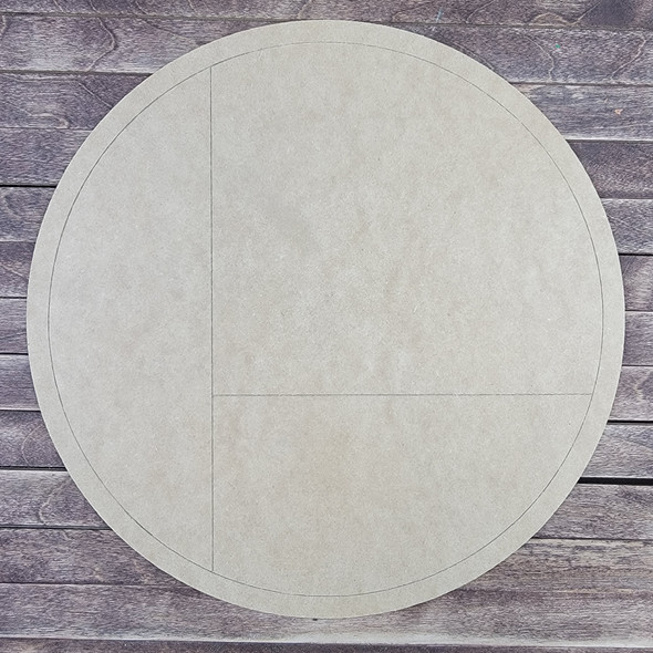 Simple Geometric Design Circle, Paint by Line, Wood Craft Cutout