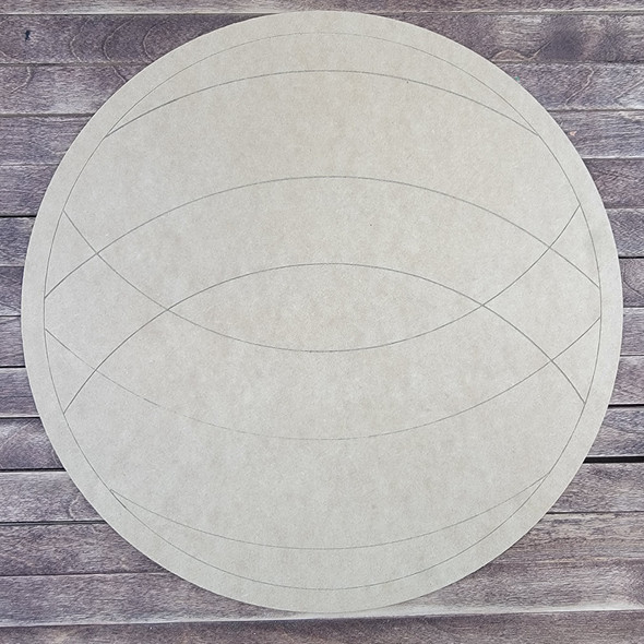 Overlapping Circle Patten, Paint by Line, Wood Craft Cutout