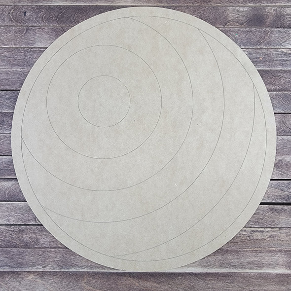Concentric Circle Pattern, Paint by Line, Wood Craft Cutout