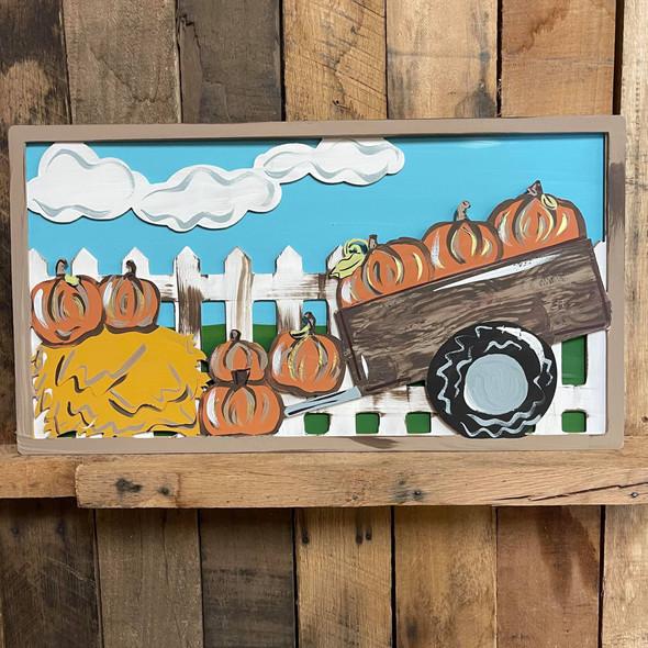 Fall Scene Layered Art, Unfinished