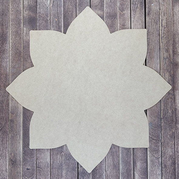Floret Flower Design , Wooden Craft Shape, Paintable MDF Craft