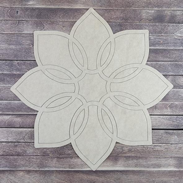 Floret Flower, Paint by Line ,Design Wood Craft Cutout