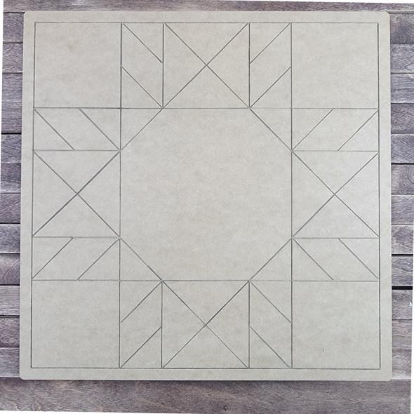Geometric Art Design Pattern Square, Paint by Line ,Wood Craft Cutout